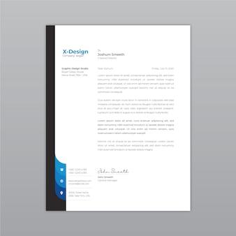 Kreative und moderne firmenbriefpapiergestaltung