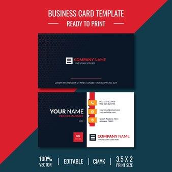 Kreative und saubere visitenkarten-designvorlage