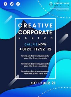 Kreative unternehmensbroschüre