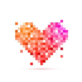 Kreative valentinstag hintergrund der quadratischen stücke