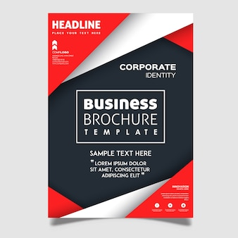 Kreative vektor-broschüren-designs