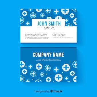 Kreative visitenkarte für krankenhaus oder doktor