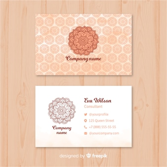 Kreative visitenkarte in der mandalaart