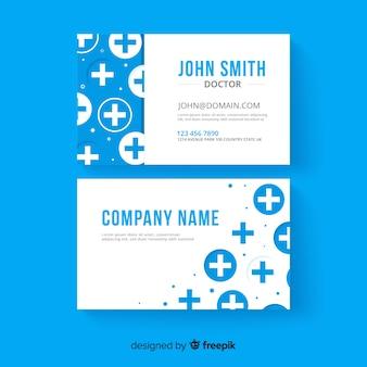 Kreative visitenkarte mit medizinischem design