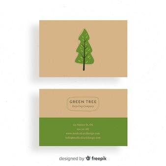 Kreative visitenkarte mit natur- oder eco design