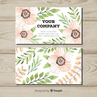 Kreative visitenkarte mit natur- oder eco konzept