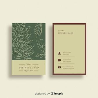 Kreative visitenkarte mit naturdesign
