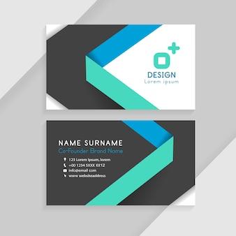Kreative visitenkarten. business identity card template-konzept.