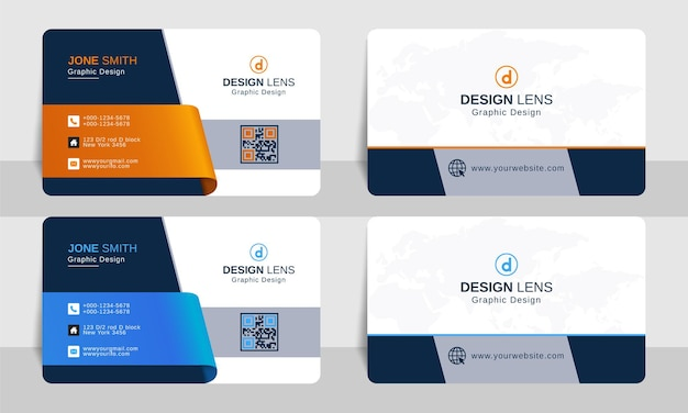 Kreative visitenkarten-designvorlage