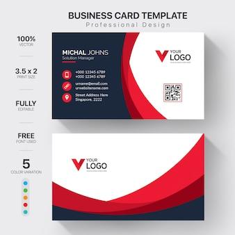 Kreative visitenkarten mit farbvariationen