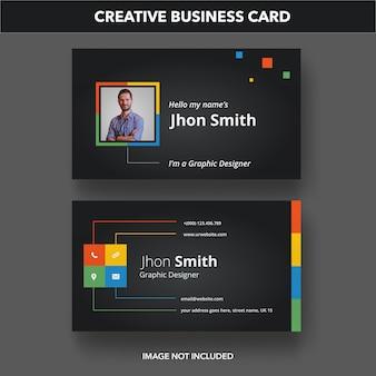 Kreative visitenkartenvorlage