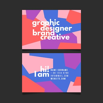 Kreative visitenkarteschablone der grafikdesignermarke