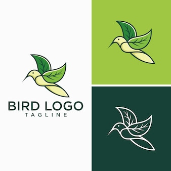 Kreative vogel-logo-bilder