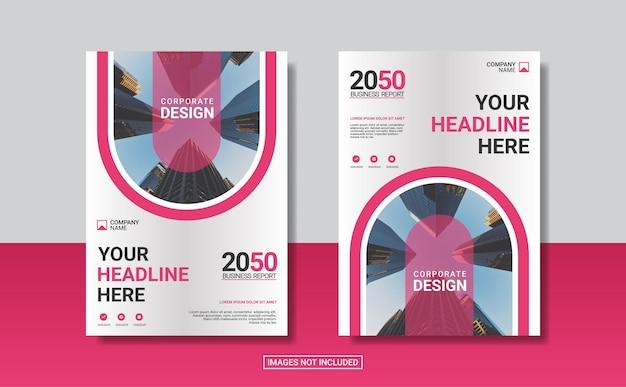 Kreative vorlage für das buchcover-design für unternehmen