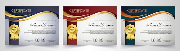 Kreative vorlage für ein anerkennungszertifikat