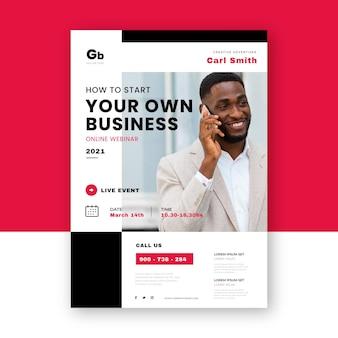 Kreative webinar-flyer-vorlage