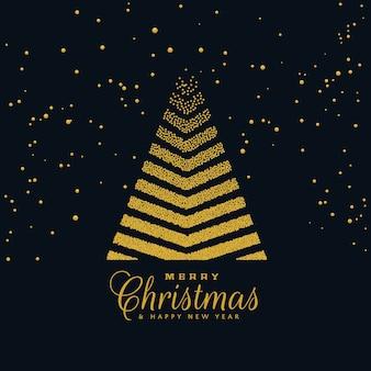 Kreative weihnachtsbaum design auf dunklem hintergrund