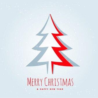 Kreative weihnachtsbaum design in papier schneiden stil