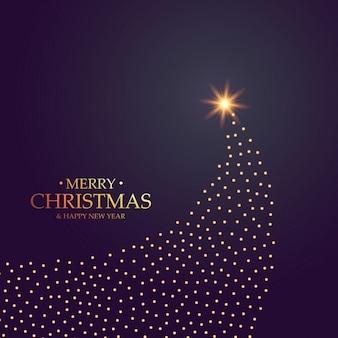 Kreative weihnachtsbaum-design mit goldenen punkten gemacht
