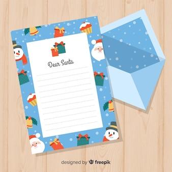 Kreative weihnachtsbrief- und -umschlagschablone