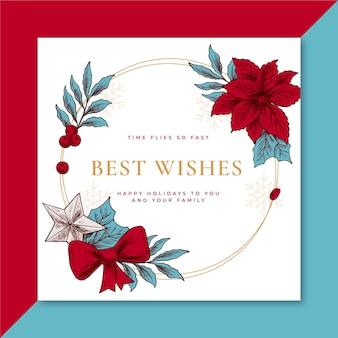 Kreative weihnachtskartenschablone