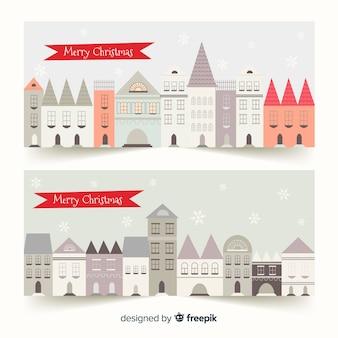 Kreative weihnachtsstadtfahnen