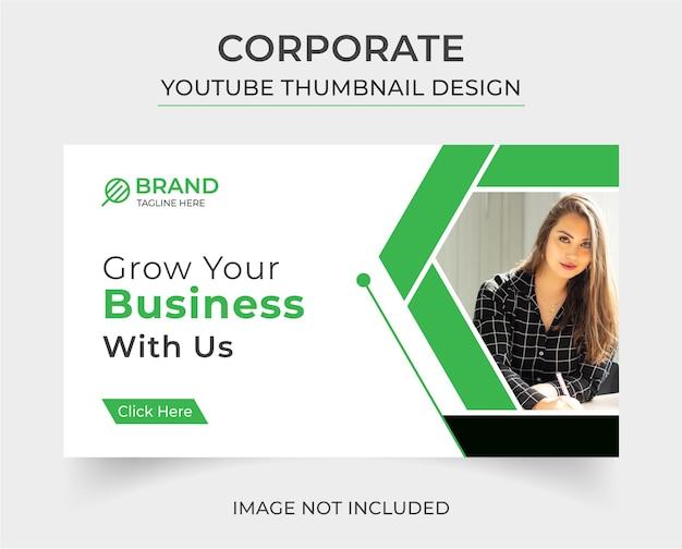 Kreative youtube-thumbnail-vorlage für unternehmen