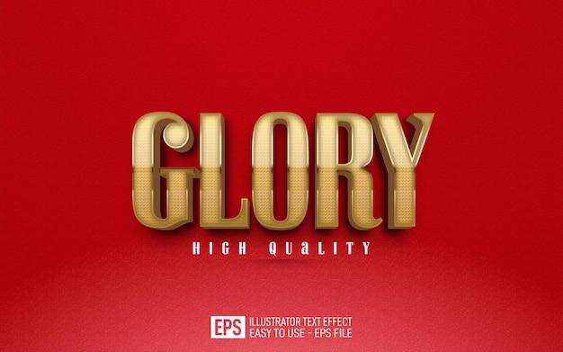 Kreativer 3d-text glory, bearbeitbare stileffektvorlage
