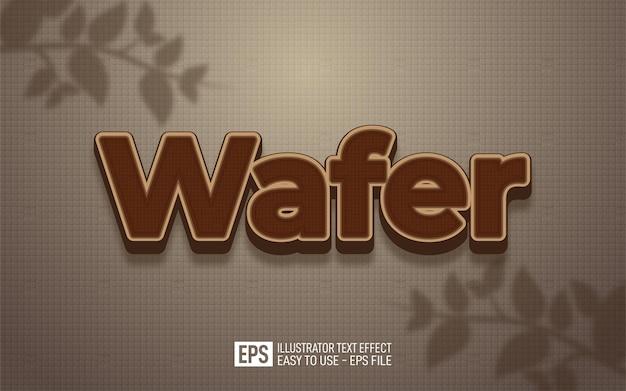 Kreativer 3d-text-wafer, bearbeitbare stileffektvorlage