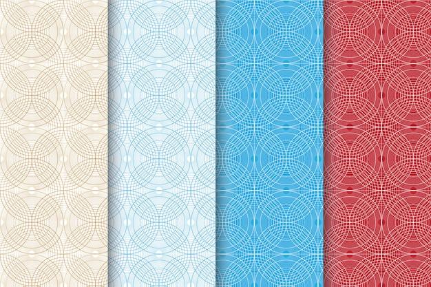 Kreativer abstrakter geometrischer nahtloser muster-satz