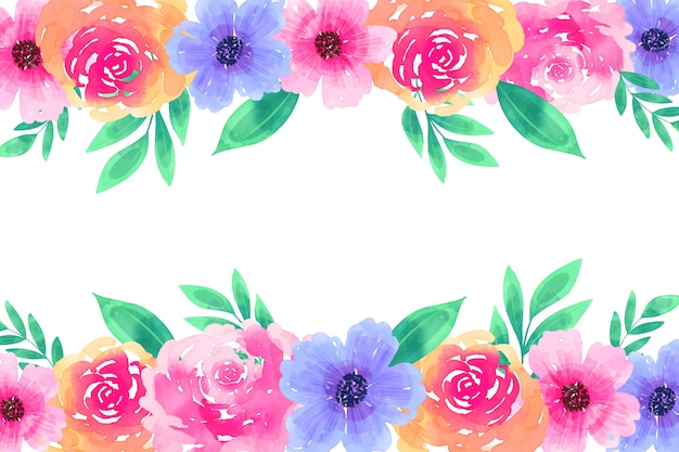 Kreativer aquarellblumenhintergrund