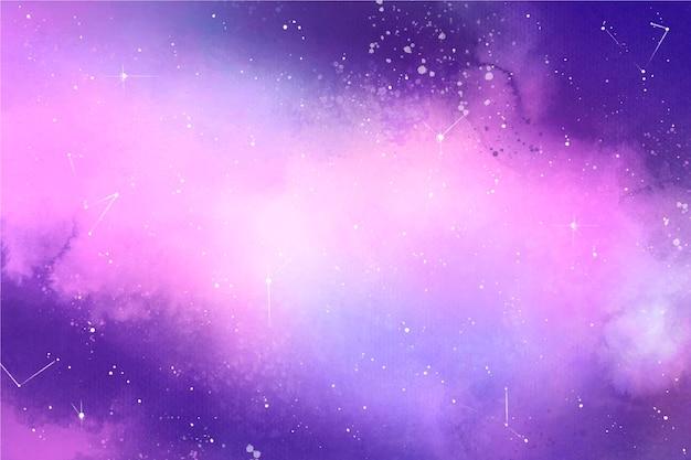 Kreativer aquarellgalaxienhintergrund