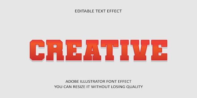 Kreativer bearbeitbarer text effekt