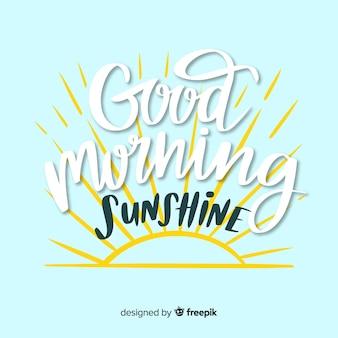 Kreativer beschriftungshintergrund des gutenmorgens