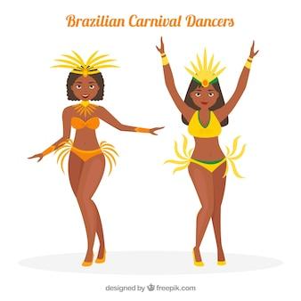 Kreativer brasilianischer karnevalstänzersatz