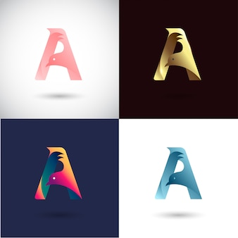 Kreativer buchstabe a logo design
