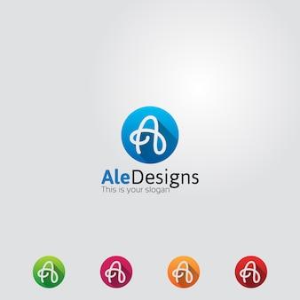 Kreativer buchstabe a logo icon