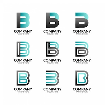 Kreativer buchstabe b logo collection