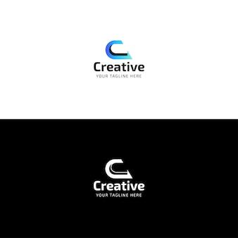 Kreativer buchstabe c logo design temlate