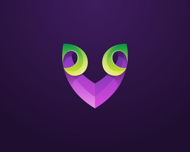 Kreativer buchstabe v logo