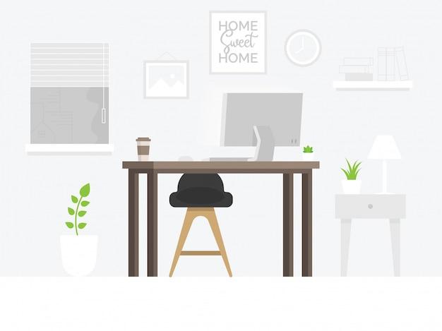 Kreativer büroarbeitsplatz