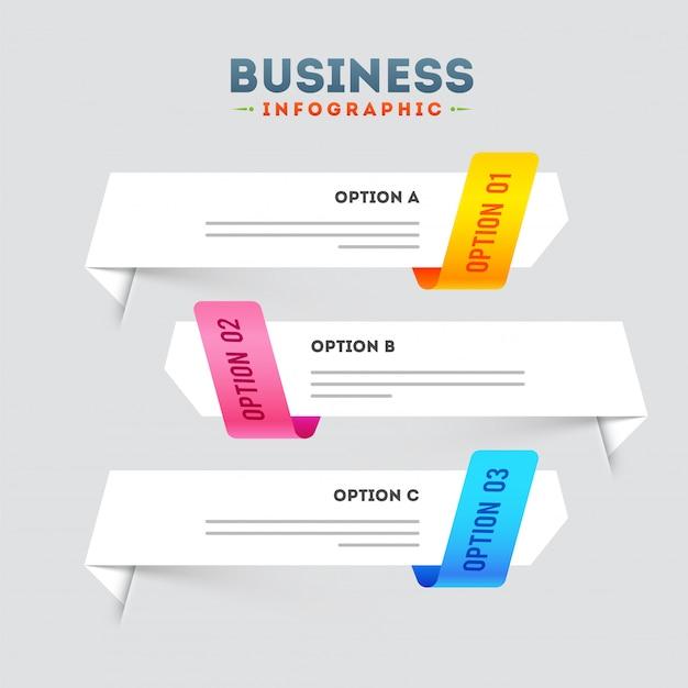 Kreativer bunter infographic pfeil mit zahlen