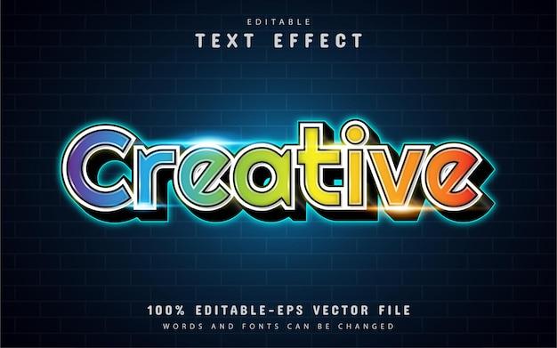 Kreativer bunter texteffekt