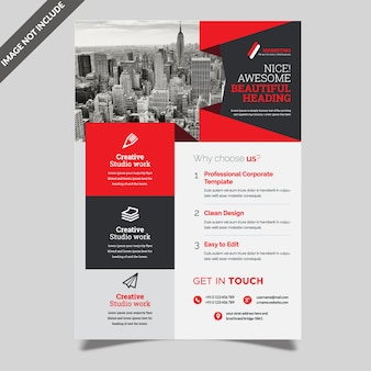 Kreativer business-flyer