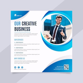 Kreativer business square flyer