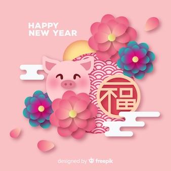 Kreativer chinesischer Hintergrund des neuen Jahres