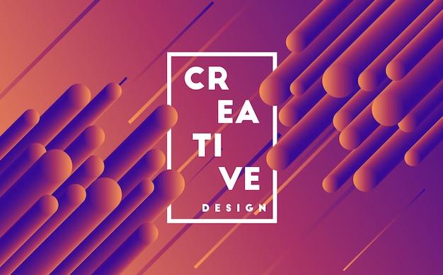 Kreativer dynamischer designformhintergrund