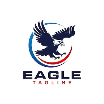 Kreativer eagle logo stock vector