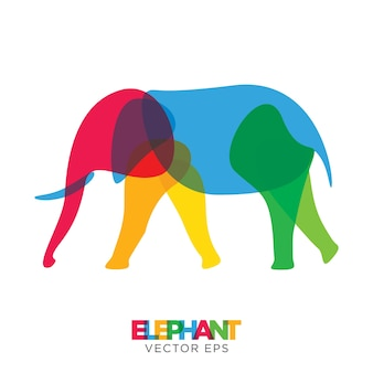 Kreativer elefant animal design