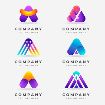 Kreativer farbverlauf eine logosammlung